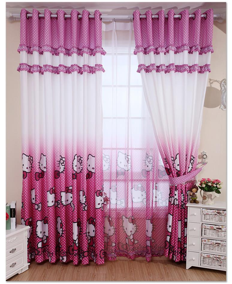 real blackout curtains home decoration curtain hello kitty childrens bedroom curtains blind girl child for free - Decoration Hello Kitty Chambre Bebe