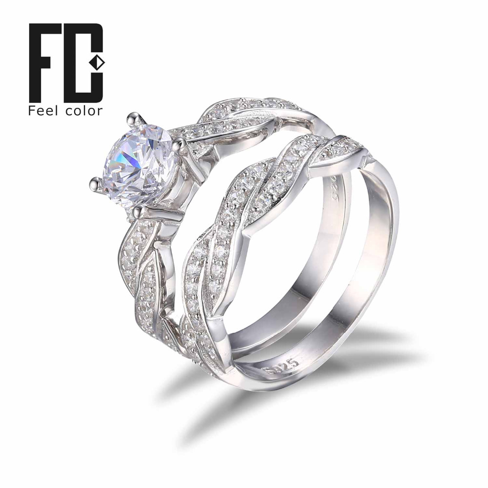 Aliexpress Buy INFINITY Love CZ Engagement Wedding Ring Set 925 Sterling Silver Band