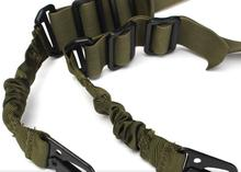 Nylon Multi-function Adjustable Two Point Tactical Rifle Sling Hunting Gun Strap Outdoor Airsoft Mount Bungee System Kit 3 colo(China (Mainland))