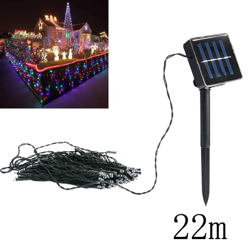 22m Waterproof Solar Power 200LED String Fairy Light Outdoor For Christmas Party Garden