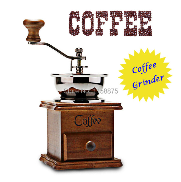 Home Coffee Maker That Grinds Beans : Funlife Coffee Grinder Portable Classic Wooden Manual Coffee Grinder Home Coffee Mill Beans ...