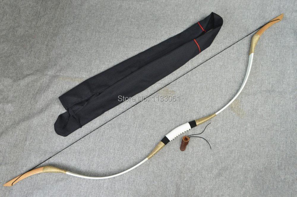 45lb handmade bow 1 piece traditional recurve bow shooting target archery