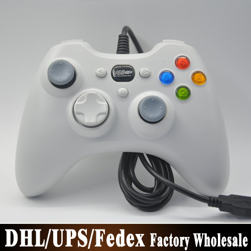 (wholesale) 50pcs/lot Wired Game Controller Joystick Gamepad Looks Like a Xbox 360 Controllers for PC Computer Laptop(China (Mainland))