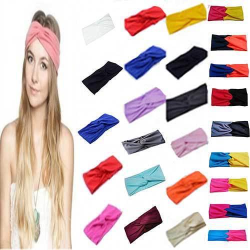 Women Stretch Twist Headband Turban Sport Yoga Head Wrap Bandana Headwear Hair Accessories Free Shipping(China (Mainland))