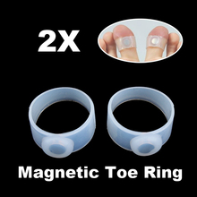 2 x Slimming Weight Loss Keep Fit Magnetic Toe Ring HB88