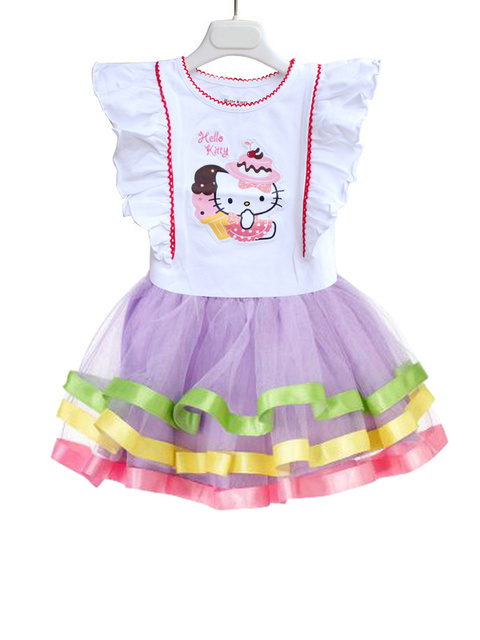 2013 Newest Design Branded Baby Girl Hello Kitty cute dress kids Birthday tutu dresses Pink High Quality,2 colors