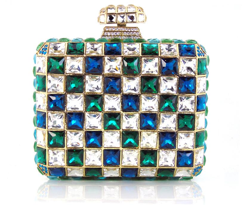 Фотография YU16-3 Crystal Evening Bag Clutch Peacock diamond pochette soiree Women evening handbag wedding party purse clutch bag