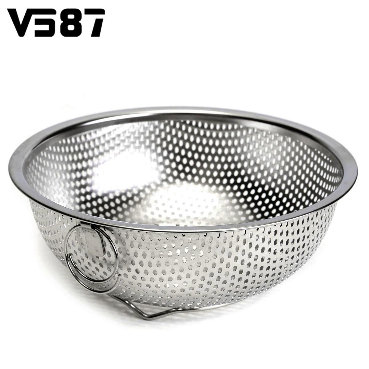 Stainless Steel Sink Colander : Stainless Steel Mesh Fruits Vegetable Basket Sieve Colander Strainer ...