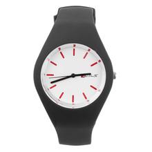 Fashion Men Women Silicon Strap Round Dial Sport Leisure Wrist Watch Jewelry For Girl Women Round