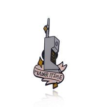 La X-Lime Fox Mulder Del Tatuaggio Mai più Distintivo Spilla Alien 90s Scully Telefono Mulder È Me spilli Spille per Le Donne Degli Uomini Dei Monili(China)
