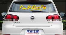 Car Styling Love V Kool Reflective Car Sticker And Decal For VW Chevrolet Ford Lada Opel