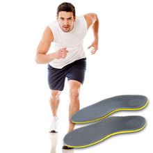 New Arrival 1 Pair Grey + Yellow Insoles Inserts Shoe Pad Cushion Foot Pad Heel Shock Free Shipping