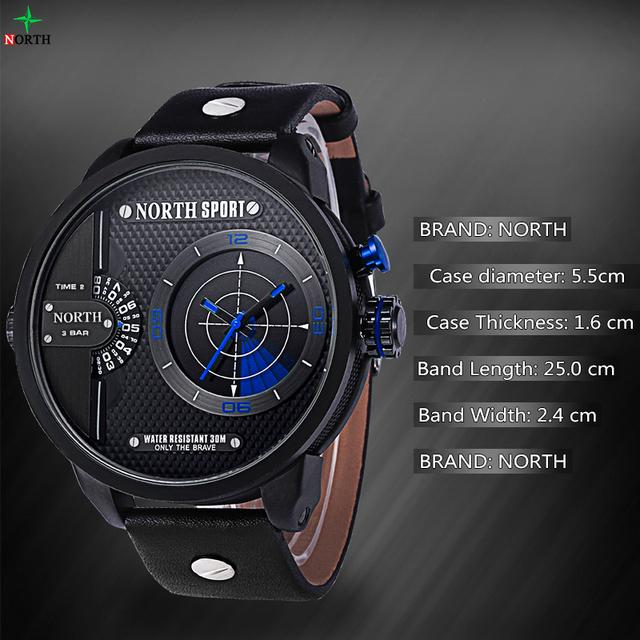 Zegarek męski NORTH SPORT elegancki sportowy styl różne kolory