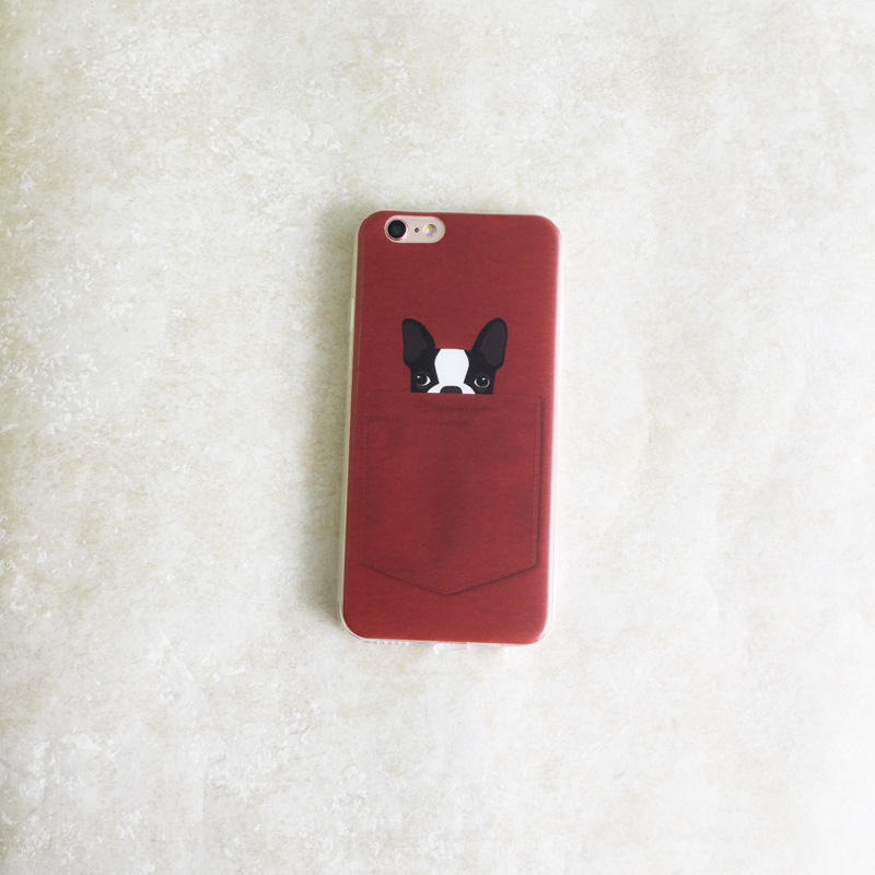 lovely pet painted case for apple iphone 6 6s Case Soft TPU case dog and cat in the bag case for iphone 6 back cover