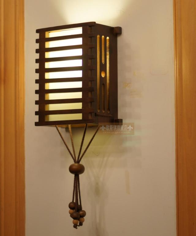 Antique Wood Wall Lamps : Fitting solid wood rustic wall lamp eco friendly wooden wall lamp decoration lamp fashion ...