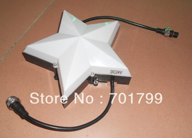 star shape LED pixel light,5W,LPD6803 IC,DC24V input,ONE sides;200mm diameter;milky cover