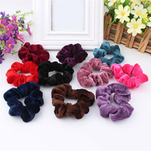 Buy 5PCS Women Velvet Hair Scrunchies Elastic Spring Hair Bands Ties Ponytail Holder Hair Accessories Women Girls Head Bands 001 for $1.85 in AliExpress store
