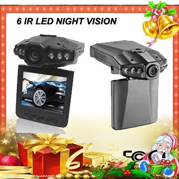 In stock, Free shipping, Dropship car camera DVR-069C 120 degree wide angle 270 degree rotation 6 IR night vision car camcorder