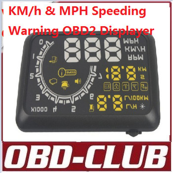 2015 New Arrivals Car HUD Showing OBD Insert Head Up Display KM/h & MPH Speeding Warning OBD2 System W02 Free Shipping(China (Mainland))