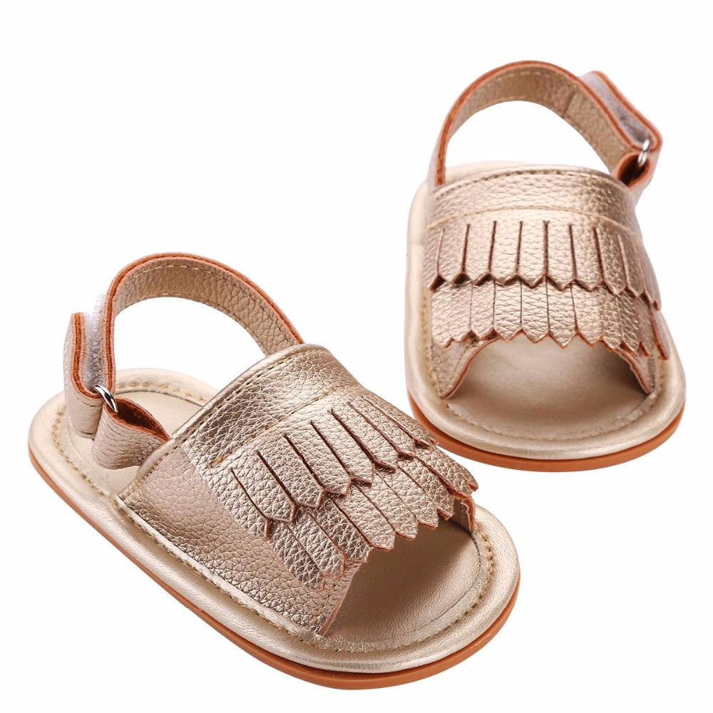 Toddler Girls Soft Sole Gold PU Leather Baby First Walkers Shoes,2016 New Fashion Slip-on Prewalker Bebe Party Baby boy Shoes(China (Mainland))