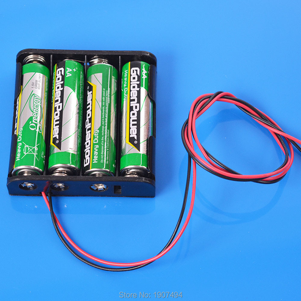 Battery Box holder Switch for 4 AA 4AA 6V OutPut Batteries(China (Mainland))
