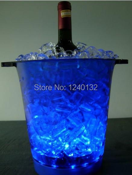 Flashing LED champagne buckets wedding bar club Decorative,Multi color changing led ice bucket(China (Mainland))