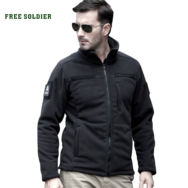 FREE SOLDIER clothing tactical fleece jacket warm men's short plush fleece outdoor sports hiking jackets hunting(China (Mainland))