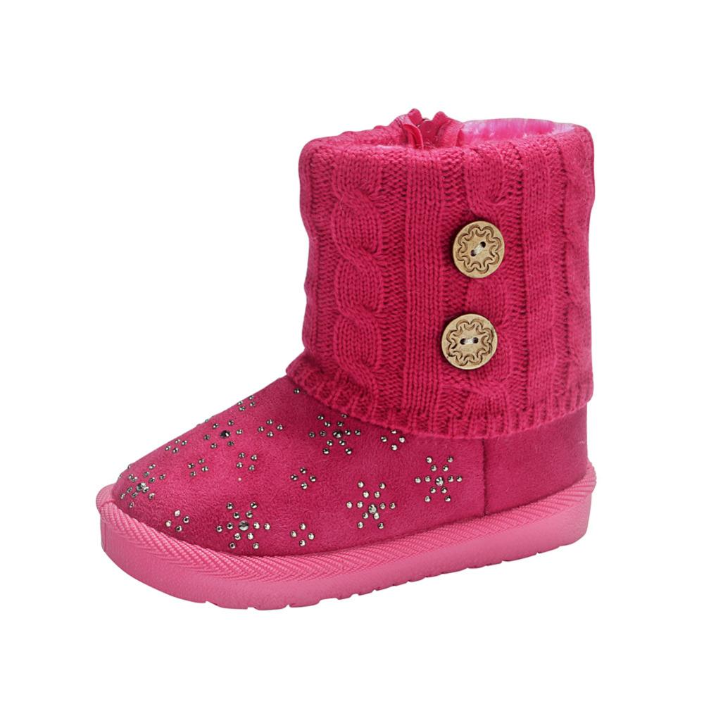 New Anna Elsa Olaf Children Snow Boots Winter Warm Boots Fur Winter Girls with Rhinestone Baby Kids Children Thicken Shoes<br><br>Aliexpress