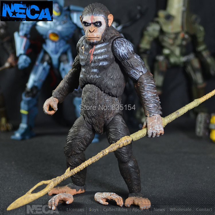Brand New Dawn of the Planet of the Apes Action Figure Toys Caesar 18cm PVC Movie Action Figure Model Toy For Gift/Kids