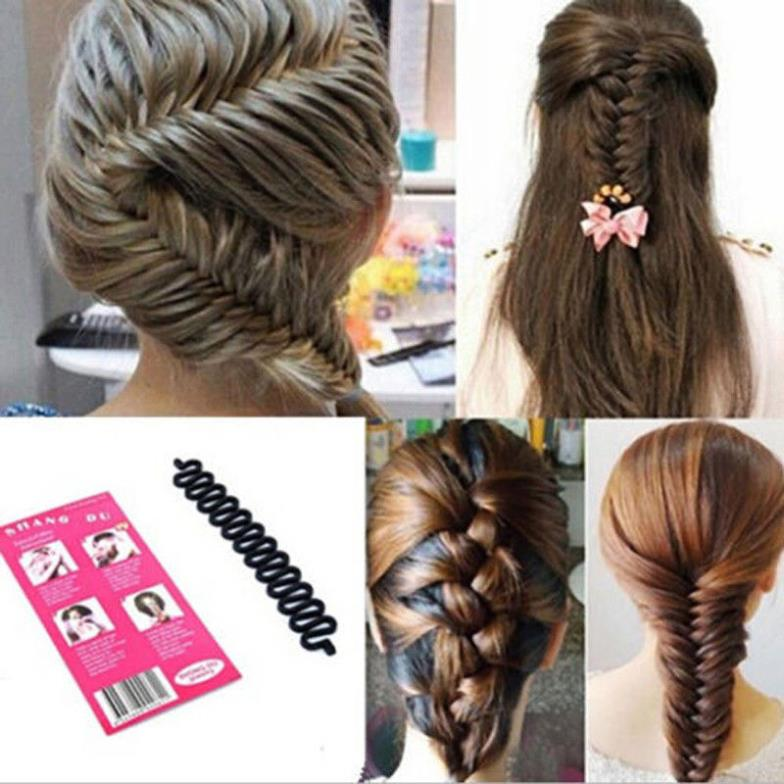 New Hair Roller With Hook Magic Twist Styling Braiding Tool Bun Maker Free Shipping M01072a(China (Mainland))