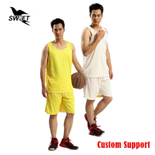 Custom Double-Side Wearing Ultra-Light Breathable Basketball Jersey GYM Sport Uniform Cheap Throwback Basketball Shirt Tracksuit