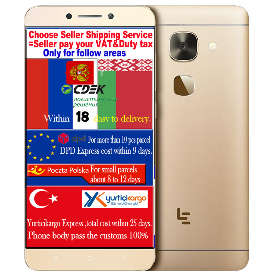 Original Letv LeEco le S3 helio X20 2GHz Deca Core CPU 3GB RAM 32G ROM FDD LTE CellPhone 5.5inch 1920*1080 16.0MP Android M OS