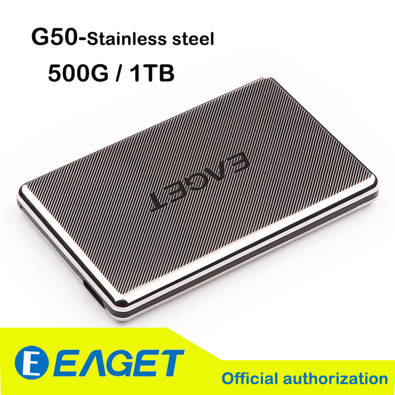 "Original Eaget G50 500G 1TB 2.5"" Full Stainless Steel Hard Encryption Shockproof USB3.0 High-speed External Hard Drives Disk HDD(China (Mainland))"