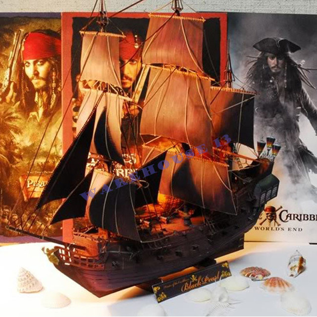 Free shipping! Paper model ship Pirates of the Caribbean Black Pearl ancient Sailing sailboat warships 3d puzzles for adults