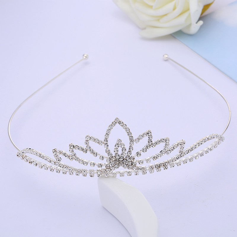 Crystal Rhinestone Crown Wedding Bridal Hair Accessories Silver Plated Women Children Tiaras Bijoux Cheveux Bride Tiara Noiva(China (Mainland))