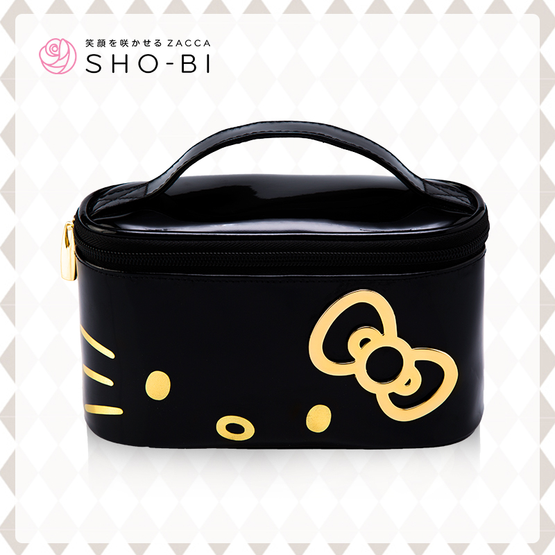 2015 New Arrival Hello Kitty Cosmetic Bags Portable waterproof Makeup Storage Beautician Organizer Case Freeshipping Handbag(China (Mainland))