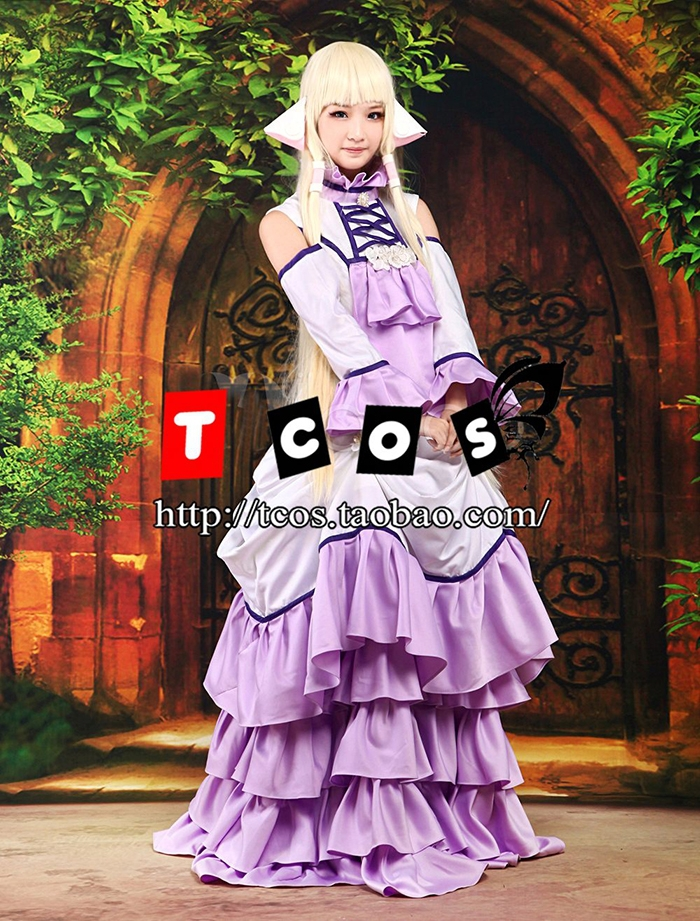Free Shipping! Newest! Chobits Eruda Purple Ultra Luxury Gothic Dress Cosplay Costume ,Perfect custom for you!Одежда и ак�е��уары<br><br><br>Aliexpress