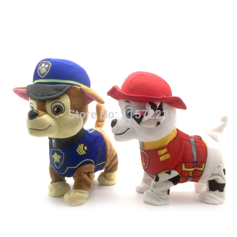 Walking Barking Musical Patrol Robot Dog Electronic pet Toys Interactive Electric Pets Paw Plush Toy Dog Christmas Gift For Kids(China (Mainland))