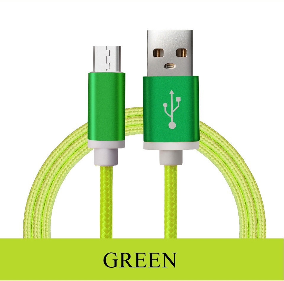 Braided Cellular phone Cables Micro USB Date Cable For Samsung (8)