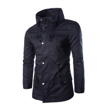 100 pcs/lot high quality long sleeve new arrival casual design stand collar 4 size for choice cheap mens jackets wholesale(China (Mainland))