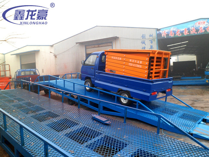 Factory supply 6000kg hydraulic mobile container loading ramp(China (Mainland))