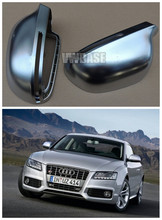 Buy 1 pair Audi 08--13 A3 8X 08--12 A4 B8 08-11--A5 09--11 A6 12-- Q3 matt chrome mirror case S3 S4 S5 RSQ3 rearview mirror cover for $76.94 in AliExpress store
