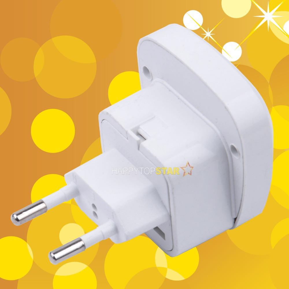 Universal UK/US/EU/AU Socket to Brazil / EURO /Russia 2 Pin Travel Power Adapter Plug With Safety Shutter(China (Mainland))