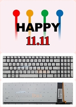 11.11 Value for Money!!! ++ Free Shipping!!! New lot US silver backlit keyboard fit ASUS N550 N750 Q550 series(China (Mainland))