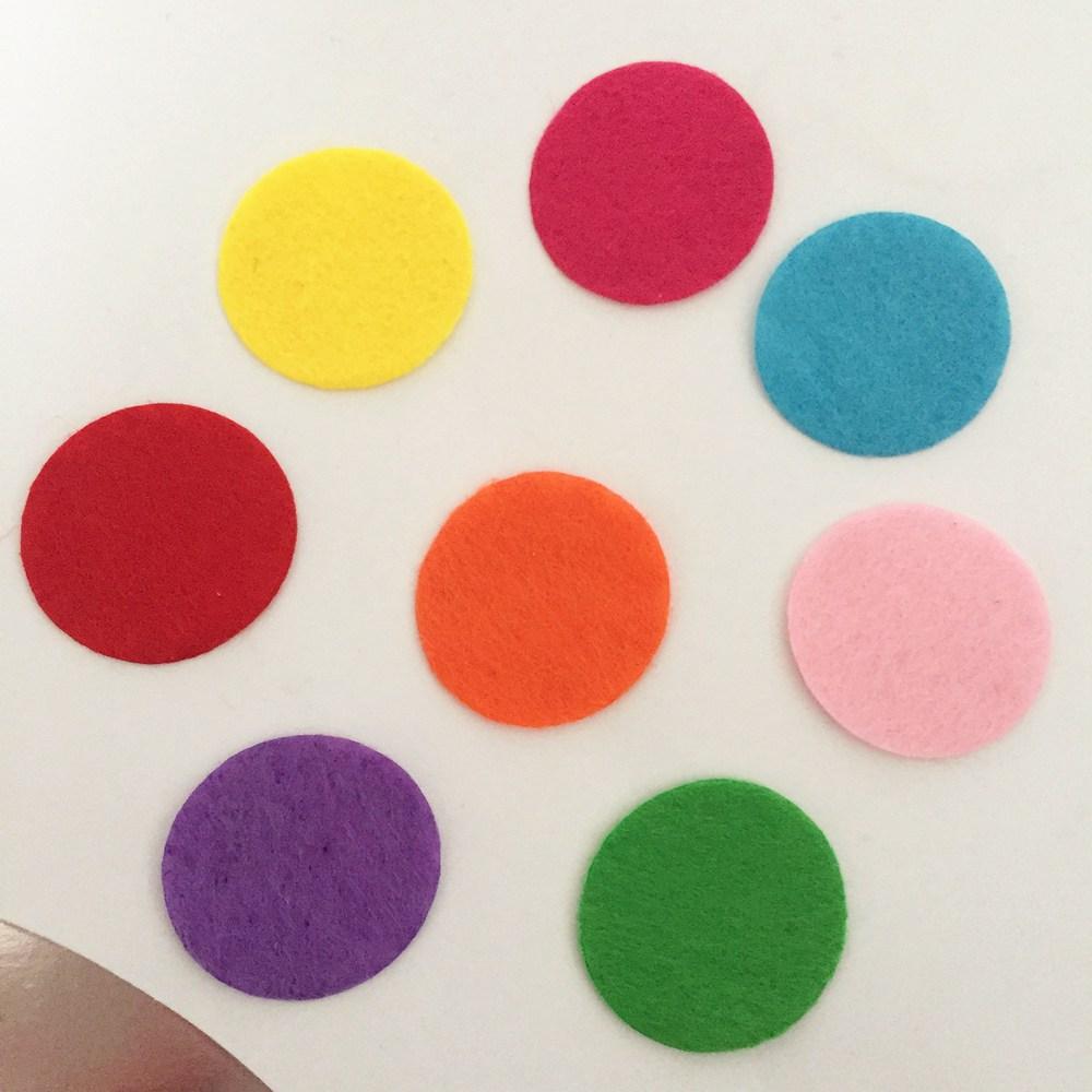 100pieces lot mix color Padded Felt round shape craft DIY Appliques Clothing decoration Scrapbook A15C