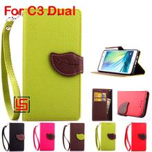 Buy LELOZI Leaf Clasp Buckle PU Leather Leathe Flip Wallet Wallt Phone Case Cover Cove Card Holders For Sony Soni Xperia C3 Dual for $8.23 in AliExpress store