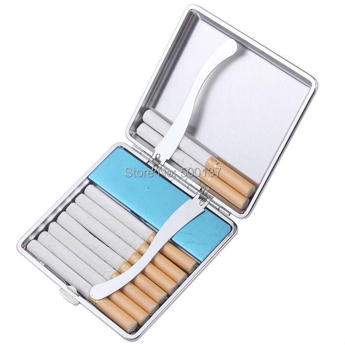 ถูก W/Built-In USB Flamelessอิเล็กทรอนิกส์แบบชาร์จกรณีที่จุดบุหรี่ผู้ถือW Indproof Flamelessเบา