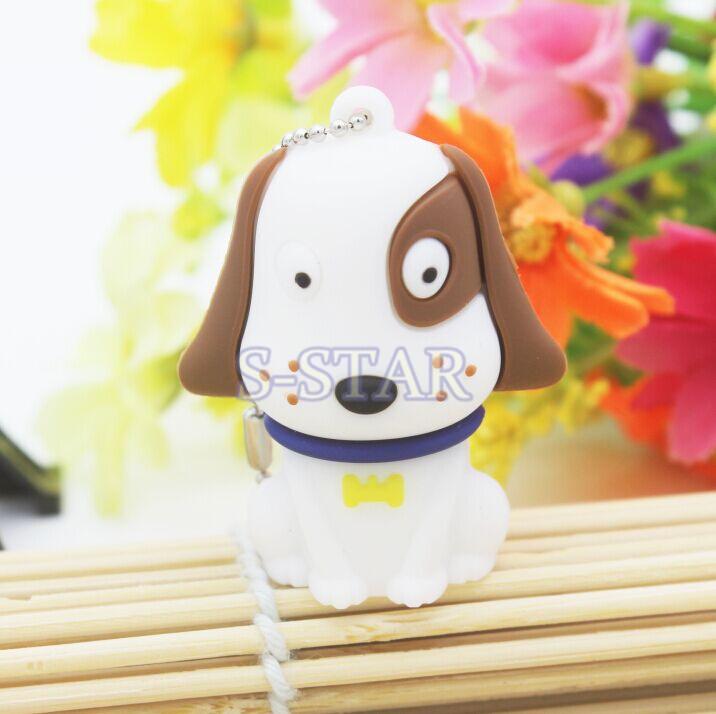 Best selling lovely cartoon dog Usb flash Drive Card Memory Stick Drives 4GB 8GB 16GB USB 2.0 Gift USB Flash Disk Free shipping(China (Mainland))