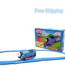 Cartoon Railway Thomas Train Slot Musical Flashing Electric Toys Trains For Kids Educational Learning Tracks Model Toys(China (Mainland))