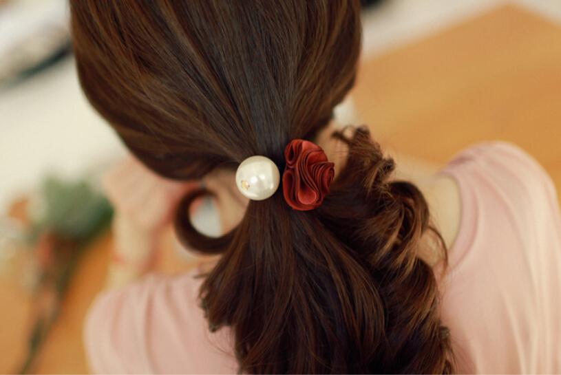 Аксессуар для волос Headwear hairagami 2015 1 Rose Pearl Rubber Bands аксессуар для волос only 2015 2 2015 women girl s headwear